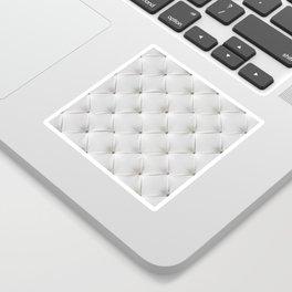 White Tufted Sticker
