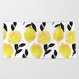 lemon tree Beach Towel