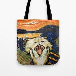 The Scream: Cat version Tote Bag