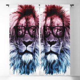 Hipster Lion Gradient art Blackout Curtain