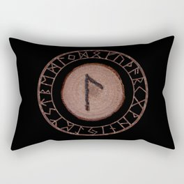 Laguz Elder Futhark Rune of the unconscious context of becoming or the evolutionary process Rectangular Pillow