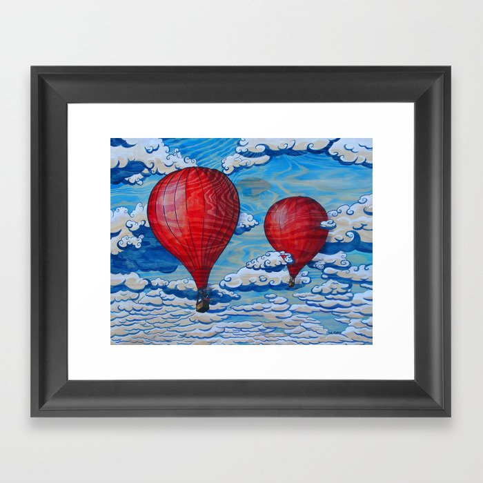 Love is Where The Wind Blows Framed Art Print