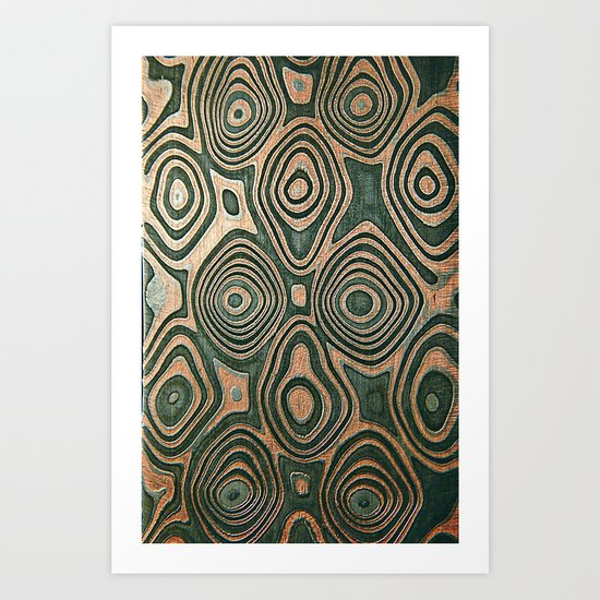 Metall texture, Damascus Art Print