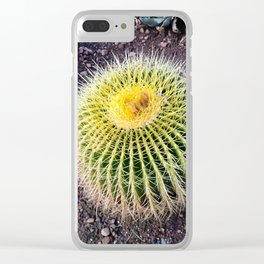 Yellow Cactus Ottoman Clear iPhone Case