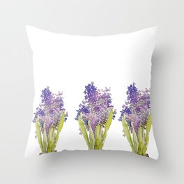 Hyacinth - watercolor  Throw Pillow