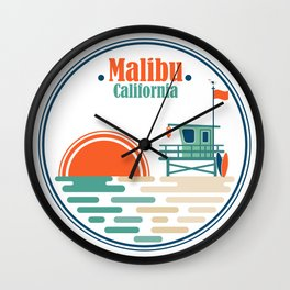 Malibu, California Wall Clock