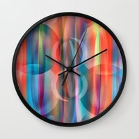 bubblegum Wall Clocks featuring Bubblegum by Christine baessler