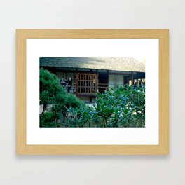 Jardin japonais,zen,Toulouse France Framed Art Print