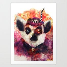 Lemur ( The Pimp Le-Mur ) Art Print