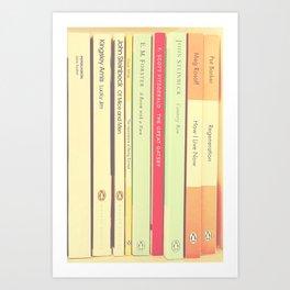 Reading the Classics Art Print