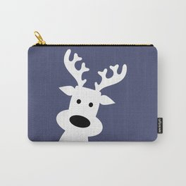 Reindeer on blue background Carry-All Pouch