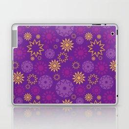 Purple Floral Stars Pattern Laptop & iPad Skin