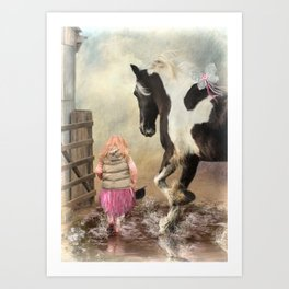 Princess Puddles and Sir Stamp Alot Art Print