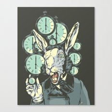 A Hare Late Canvas Print