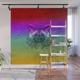 Cool Raccoon Color Wall Mural