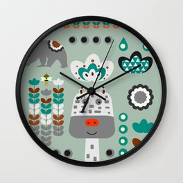 Happy giraffe Wall Clock