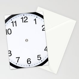 Wall clock black white Stationery Cards