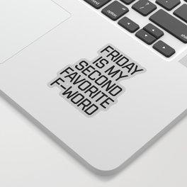 Favorite F-Word Funny Quote Sticker