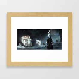 Cobalt Station Framed Art Print