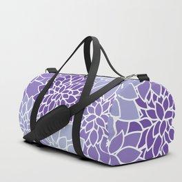 Ultra Violet Lavender Dahlias Duffle Bag