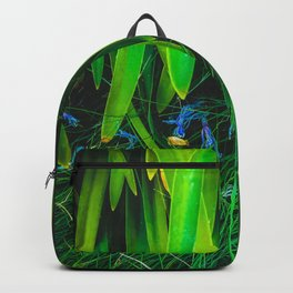 closeup green leaves plant with green grass Backpack
