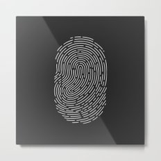 Fingerprint Metal Print