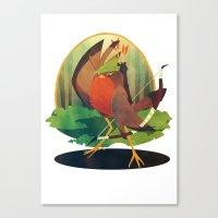 robin hood Canvas Prints featuring Robin Hood by steeledart