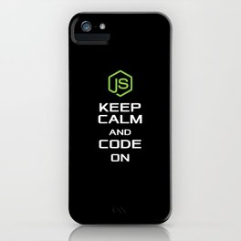 Javascript KEEP CALM AND CODE ON T shirt and Hoodi iPhone Case