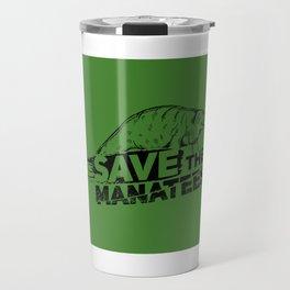 Save The Manatees II - Nature & Wildlife Gift Travel Mug