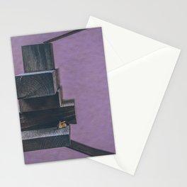purple wood  art piece Stationery Cards
