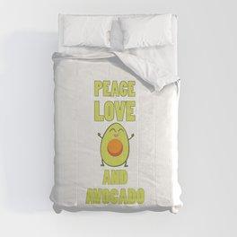 Funny Avocado Lover Saying | Vegan Gift Idea Comforters