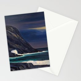 Classical Masterpiece Brewing Storm, Monhegan Island, Maine by Rockwell Kent Stationery Cards