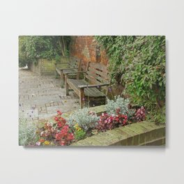 Secluded English Garden Metal Print