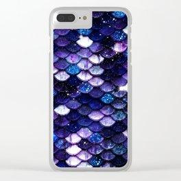 Mermaid Glitter Scales Clear iPhone Case