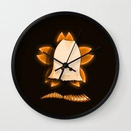 ooooOOOOO-KUURAAAA! (Orange) Wall Clock