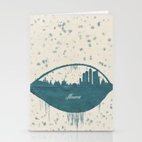 moscow Stationery Cards featuring Frozen Moscow by Paula Belle Flores