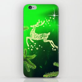 Christmas reindeer happy decoration iPhone Skin