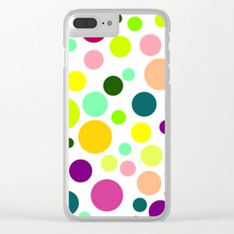Perfect Polkadots Clear iPhone Case