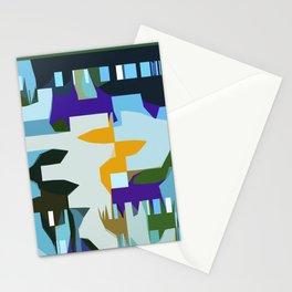 Blue City Man Stationery Cards