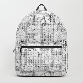Floral Lace - White Backpack
