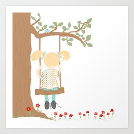 On the Swing, In the Tree Art Print