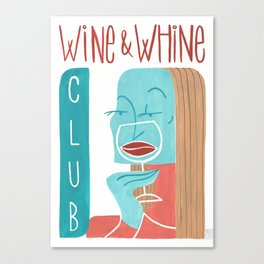 Wine & Whine Club Canvas Print