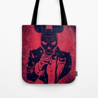 mickey Tote Bags featuring Mickey by Spyck