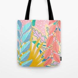 Modern Jungle Plants - Bright Pastels Tote Bag