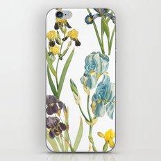 Vintage Floral Pattern | No. 2B | Iris Flowers | Irises iPhone & iPod Skin