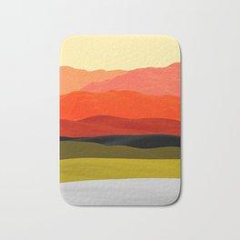 Mountains in Gradient Bath Mat