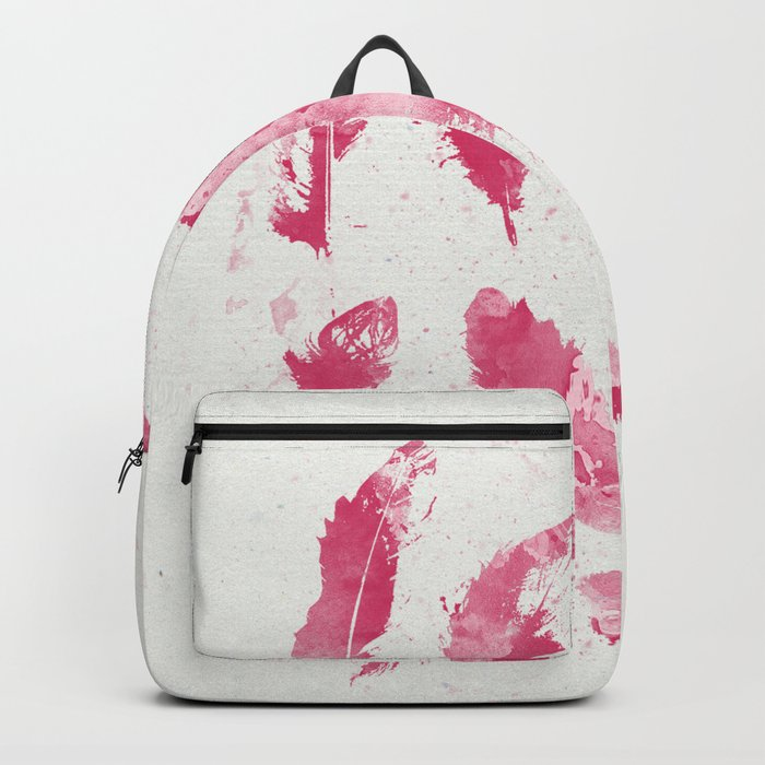 Pink Feathers Backpack