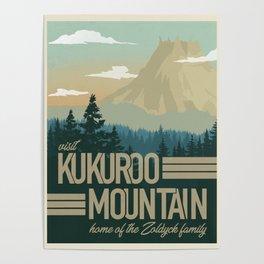 Kukuroo Mountain Illustration Poster