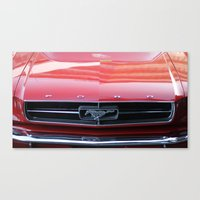 mustang Canvas Prints featuring Mustang by JJ's Photography