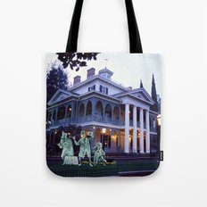 Haunted Mansion and Hitchhikers Tote Bag